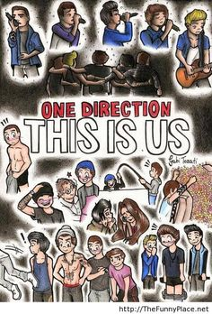 One direction funny cartoon
