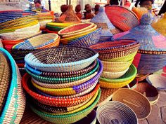 Silent Sunday: Baskets for sale at the market in Inca