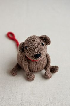 Susan B. Anderson's new toy pattern, Buddy the dog. Included in the pattern: Ben & Buddy now on Ravelry and Quince & Co.