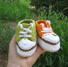 Crochet pattern baby sneakers Crochet baby pattern by Pletionica