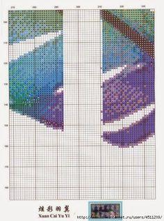 schema punto croce piuma quadro | Hobby lavori femminili - ricamo - uncinetto - maglia