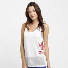 Camiseta Regata Adidas La Logo Top Branco   Netshoes