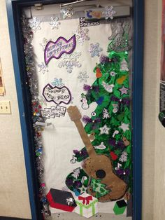 My classroom door for decorating contest.