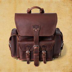 Saddleback Leather Front Pocket Backpack Brown Leather Backpack 54100c1e12865