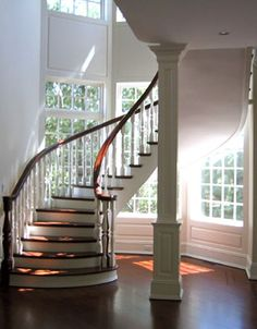 180 degree turn - Image detail for -New York Builders of Stairs - Gallery: Curved. Entry foyer and stairs. French English country traditional