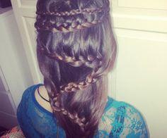 zig-zag crazy hair braid
