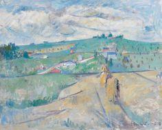 Erik Granfelt (Finnish, 1919-1990), FELL LANDSCAPE, 1963. Oil on canvas 65 x 81 cm