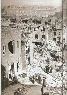 Liverpool blitz.. Bombing  run started in Liverpool and then a high explosive bomb dropped on the house at the bottom of Dad's garden.