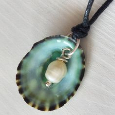 Necklace for the Beach  SeaShell Limpet jewelry