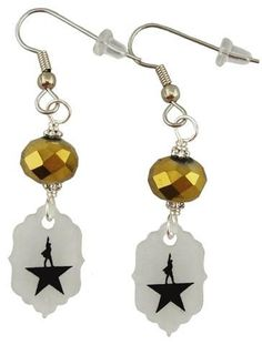 Hamilton is a critically acclaimed Musical. Share your passion for this really amazing musical with some fun earrings. These supper light weight earrings are 2 1/4 inches long and 1/2 inch wide At the