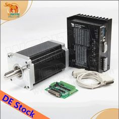 250.17$  Buy now - http://alime5.worldwells.pw/go.php?t=32708452095 - 5-7day time shipment No tariff! Wantai 1Axis Nema42 Stepper Motor  3256oz-in 6.8A 4-Lead+Driver DQ2722MA CNC Engraving Machine