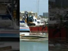 Hurricane Hanna Harbor del sol marina The clean up. Corpus Christi, Clean Up, Wind Turbine, Boat, Dinghy, Boats, Ship