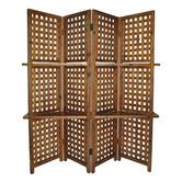 Features:  -Removable shelves.  -No fabric or screen on the back of the divider.  Product Type: -Folding.  Style: -Traditional.  Theme: -Abstract.  Color: -Brown.  Primary Material: -Wood.  Number of                                                                                                                                                      More
