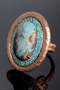 Pamela Froman Opal Ring | Oval Cluster Reposted by #ParadisoInsurance http://www.paradisoinsurance.com/#/ @paradisoins