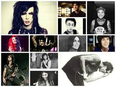 """Thank you for EVERYTHING!!! My Personal Saviours!!! Andy Biersack (Black Veil Brides), Jack Barakat (All Time Low), Ronnie Radke (Falling In Reverse), Tony Perry (Pierce The Veil), Ashley Costello (New Years Day), Chris Motionless (Motionless In White), Ricky """"Horror"""" Olson (Motionless In White), Oliver Sykes (Bring Me The Horizon), Jake Pitts (Black Veil Brides), Kellin Quinn (Sleeping With Sirens), Vic Fuentes (Pierce The Veil), and Austin Carlile (Of Mice & Men)"""