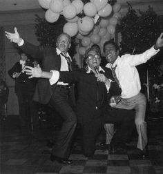 1978, June 8; Frank Sinatra, Dean Martin & Sammy Davis Jr. get together for a joint celebration of the birthdays of Nancy Jr, Tina and Dean, at Chasen's Restaurant in Hollywood.