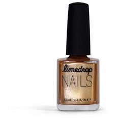 Gold Coast Limedrop Nail Polish (1.000 RUB) ❤ liked on Polyvore featuring beauty products, nail care, nail polish, nails, makeup, beauty, beauty nails, gold coast, limedrop and gold nail color