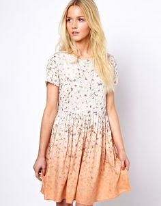 ombre floral print dress / asos