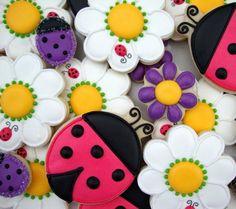Cute sugar cookies, #lady bug