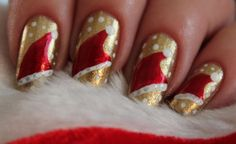 Some easy christmas nail designs | Easy do christmas nails | Cute christmas nail designs