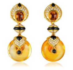 Marina B Pneu Citrine Earrings