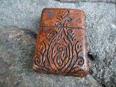 I just won this on a give-away by Wastelandoddities !!  Too cool.    Wasteland Leather Hand Tooled & Distressed by WastelandOddities, $69.00