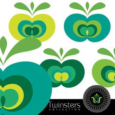 Green apple png digital clipartTW40 by Twinsters on Etsy, $2.50great colours