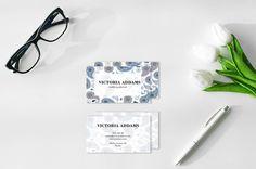 Paisley Business Card Design / moda Business Card / Wedding Planner Business Card / Blogger biglietto da visita Business Card / Premade