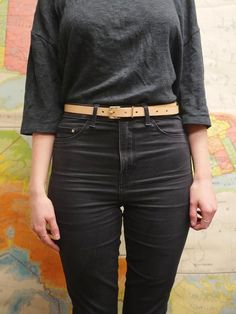 THE SLIM BELT BY CYRIL LEATHER . SORE HANDS OLD TOOLS Sore Hands, Leather Suppliers, Tan Belt, Old Tools, Raw Denim, Jeans Size, Tights, Slim