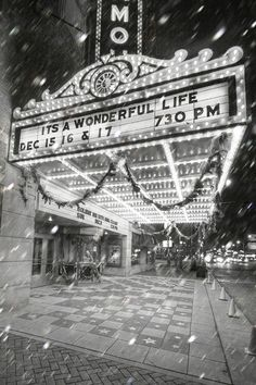 It's a Wonderful Life Movie Marquee. An old photo?
