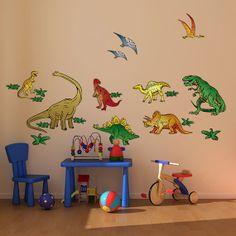 Dinosaur Room Decoration for Kid's Room  by Bringyourwallstolife, $44.95