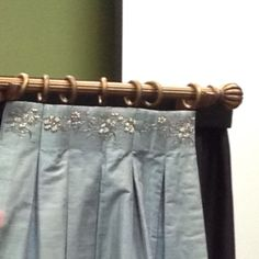 Hand beaded box pleat panel. Love the beads for a more traditional look...