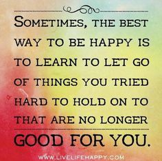Just let it go and move on! I totally agree! :)