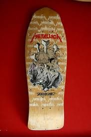 Zorlac Skateboards Metallica Deck art by Pushead