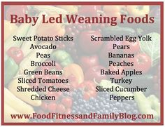 Our Favorite Baby Led Weaning Started Foods  Via @ FoodFitandFam