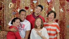 """This is the handsome Rayver Cruz with the staff of Star Magic singing """"Nana nanana nanana Thank you, thank you for the love"""" during the taping of the ABS-CBN 2015 Christmas Station ID, """"Thank You for the Love!"""" Indeed, Rayver is another of my favourite Kapamilyas and Star Magic talents. #RayverCruz #ABSCBNChristmasStationID #ThankYoufortheLove Sunshine Cruz, Half Filipino, Enrique Gil, Daniel Padilla, Star Magic, Liza Soberano, Kathryn Bernardo, Jadine, Child Actors"""
