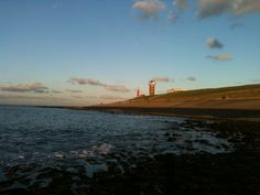 Nice view from the beach,with the lighthouse in Huisduinen