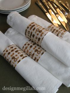 """Matzah"" Napkin Rings If you're hosting a Seder this year, here's a fun idea to add to your Passover table."
