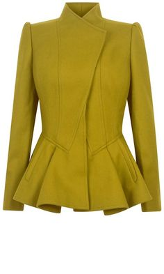 Womens Ted Baker Wrenn wool peplum jacket, Green discovered on Fantasy Shopper Look Fashion, Winter Fashion, Womens Fashion, Fashion Design, Peplum Jacket, Peplum Blazer, Work Attire, Mode Inspiration, Mode Style