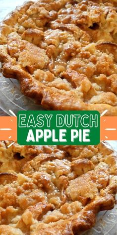 Easy Dutch Apple Pie with Crumb Topping