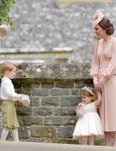 "royalcatherine: """"Catherine, Duchess of Cambridge with her two children during the wedding of her sister, Pippa // May 20, 2017 "" """