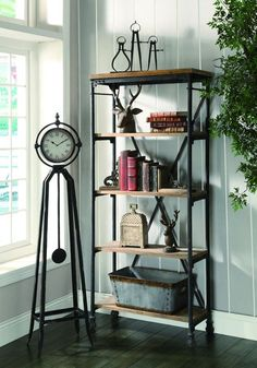 Crestview Collection CVFZR308 Industria Bookcase 30W X 13.5D X 68