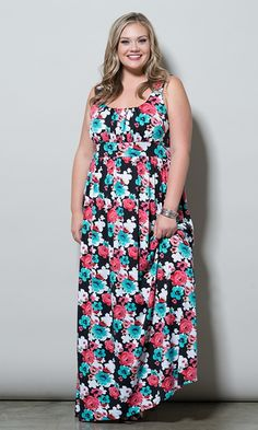 #plussize #maxi #dress at Curvalicious Clothes -- www.curvaliciousclothes.com TAKE 15% OFF Use code: TAKE15 at checkout