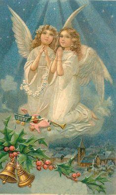 Angelic Christmas Postcard