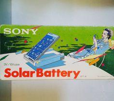 I love this packaging... Sony Solar Battery. #inspiration #studio1484