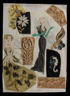Embroidery samples 1930 - 1940, Rotterdam, Atelier Van Rijsoort. (that's Dutch!)