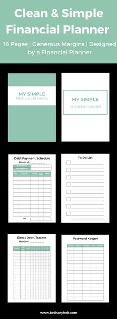 Personal Budget Planner, Financial, Budget, Printable, Planner