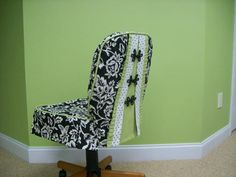 Office chair slipcover Kristin Mathis