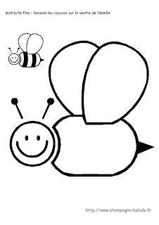 Le coin des petits | Maternelle Cycle 1: L'abeille : graphisme cycle 1