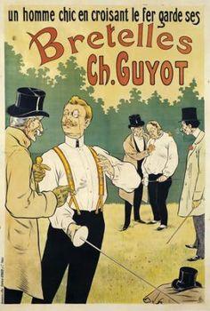 Early 1900s Antique Men's Suspenders Braces - Bretelles Ch. Guyot. $145.00, via Etsy.
